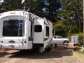 Our rig at Waldport / Newport KOA