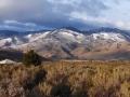 Fresh snow on Sierras, Lake Washoe State Park, Nevada